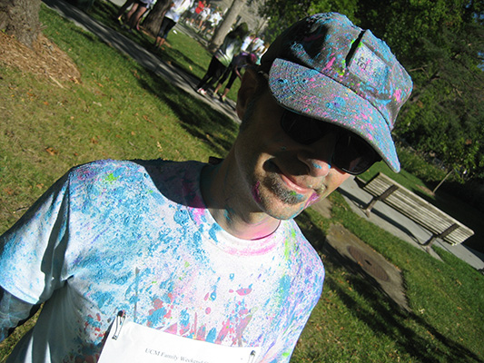 image of David after color run