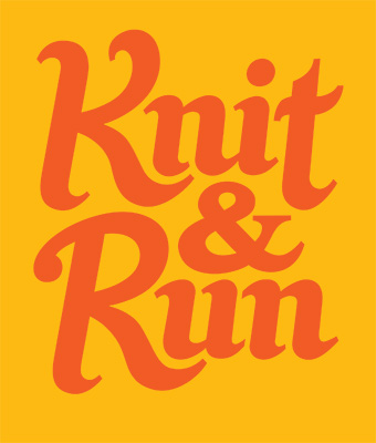 image of knit&run lettering design